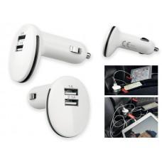 PLUG.USB-адаптер из пластика с двумя выходами 4504-45